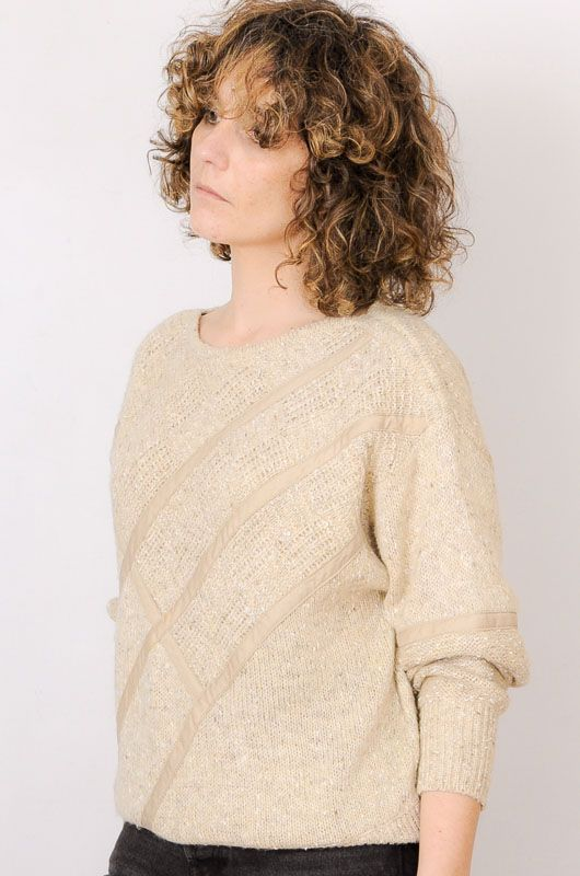 Vintage 80s 90s Textures Sand Sweater Size M - 2