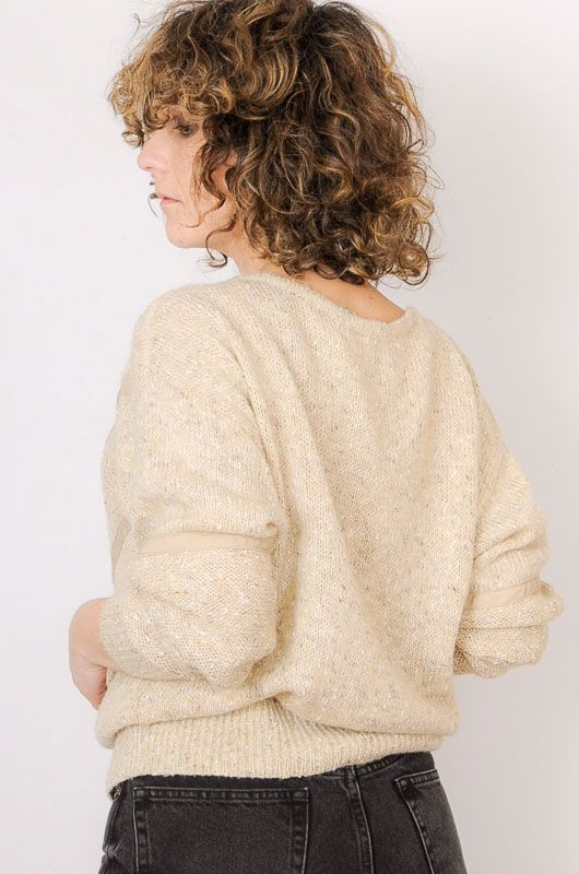 Vintage 80s 90s Textures Sand Sweater Size M - 4