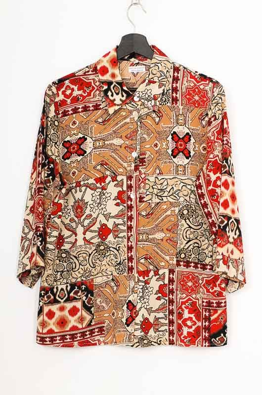 Vintage 90s Ethnic French Sleeve Shirt Size M - L - 1