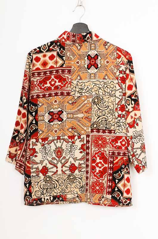 Vintage 90s Ethnic French Sleeve Shirt Size M - L - 3