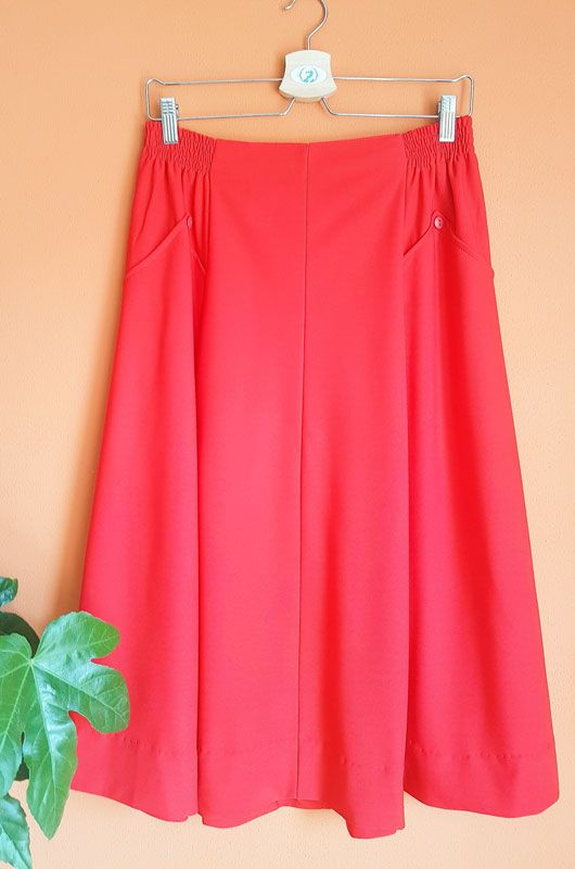 Vintage 70s 80s Red Passion Skirt Size M - L - XL - 1