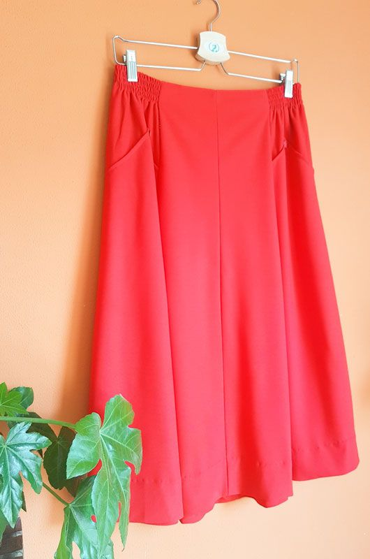 Vintage 70s 80s Red Passion Skirt Size M - L - XL - 2