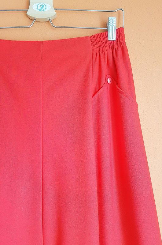 Vintage 70s 80s Red Passion Skirt Size M - L - XL - 3