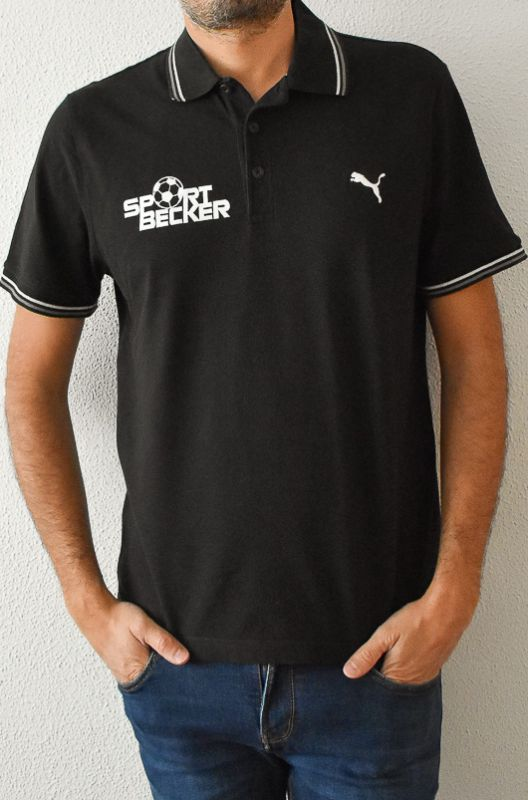 Polo Vintage Puma Negro Sport Becker Talle L - 1