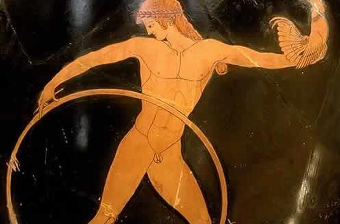 Gamínedes con aro en la Antigua Grecia